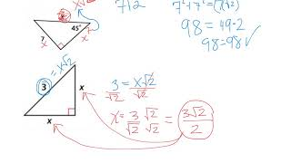 5-8 Geometry Applying Special Right Triangles