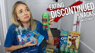 EATING DISCONTINUED SNACKS *EMOTIONAL* - Video Youtube