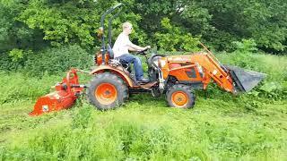 Kioti Tractor CK2810 & Del Morino Flail Mower For Sale UK | Compact Tractors For Sale UK | Kioti