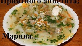 Легкий суп из консервированного горошка и яиц - Видео онлайн