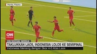 Live streaming 24 jam: https://www.cnnindonesia.com/tv  Timnas sepakbola Indonesia memastikan diri lolos ke babak semifinal Sea Games 2019, setelah di pertandingan terakhir penyisihan grup B, menundukkan laos. 2 gol dari Osvaldo Haay dan 2 gol tambahan masing-masing dari Saddil Ramdani dan Adi Bagas Nugroho membawa Indonesia menang 4-0.   Ikuti berita terbaru di tahun 2019 dengan kemasan internasional berbahasa Indonesia, dan jangan ketinggalan breaking news 2018 dengan berita terakhir dan live report CNN Indonesia di https://www.cnnindonesia.com/tv dan channel CNN Indonesia di Transvision.   Dalam tahun politik sekarang ini dan menuju pilpres 2019, CNN Indonesia mencanangkan sebagai Layar Pemilu Tepercaya. Kami akan menayangkan konten-konten politik 2019 secara seimbang untuk mengawal demokrasi dan demokratisasi di Indonesia yang kami cintai.   CNN Indonesia tergabung dalam grup Transmedia. Dalam Transmedia, tergabung juga Trans TV, Trans7, Detikcom, Transvision, CNN Indonesia.com dan CNBC Indonesia.   Follow & Mention Twitter kami: @myTranstweet @cnniddaily @cnnidconnected  @cnnidinsight  @cnnindonesia   Like & Follow Facebook: CNN Indonesia  Follow IG:  cnnindonesiatv