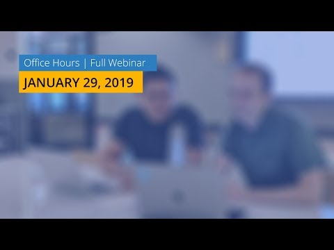 1/29/2019 Office Hours - YouTube