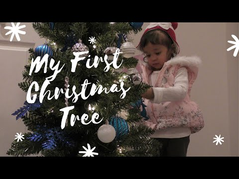 Unboxing My Very First Christmas Tree|Szanna Decorates her Christmas Tree|Vlogmas with your toddler