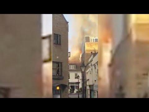 Firefighters quell big blaze near London's Euston train station