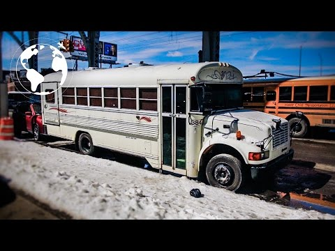 Nomadic Community Living in a Bus in New York City