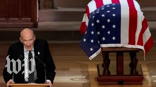 Watch Alan Simpson's full eulogy for George H. W. Bush