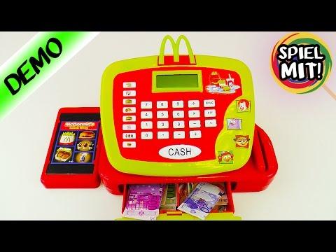 McDonalds Kasse mit Sprachansage! Mit Happy Meal, Cheeseburger und Pommes Taste