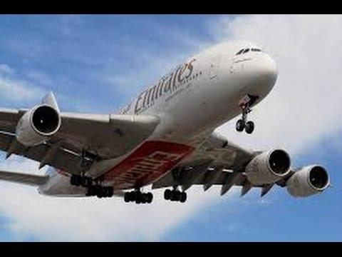 Emirates a380-800 Dubai to Toronto – Economy Class Seat 49 K & J full flight review