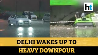 Watch: Rain lashes parts of Delhi, IMD predicts showers till Tuesday