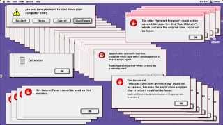 [HD] Crazy Mac Error 3 (Mac OS 9) (with video!)