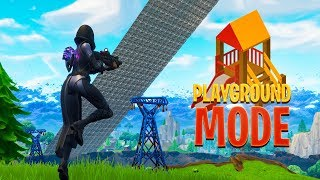 PLAYGROUND MODE gameplay in Fortnite
