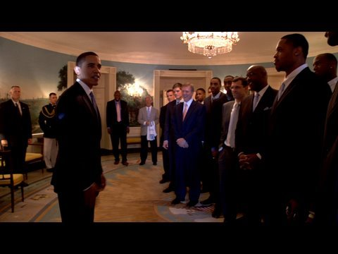 Video: Tar Heels visit President Obama at the White House