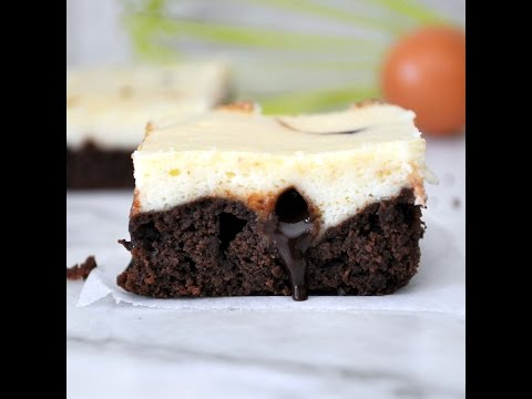Cheesecake Brownies with Chocolate Fudge by Cooking with Manuela