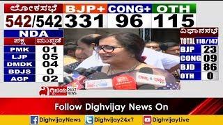 ಸುಮಲತಾ ಅಂಬರೀಶ್ ಪ್ರತಿಕ್ರಿಯೆ | Sumalatha Ambareesh Reacts on her Lead in Mandya