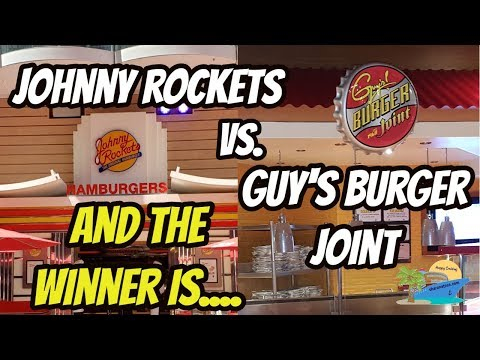 JOHNNY ROCKETS VS. GUY'S BURGER JOINT | WHO HAS THE BEST BURGER