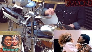 """Jermaine Jackson and Pia Zadora - """"When The Rain Begins to Fall"""". 🎧 DRUM COVER ⬢ SIMMONS SDS 8 ⬢"""