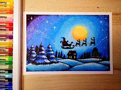 วาดภาพวิว วันคริสต์มาส | How to draw Merry Christmas