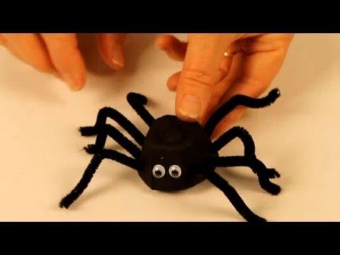 Bricolage Halloween - araignées