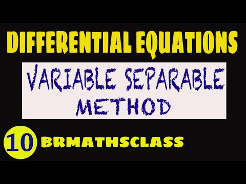 Separable Differential Equations (Differential Equations 12