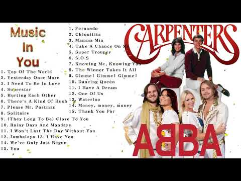 ABBA, The Carpenters Non Stop Love Songs ♫ The Ultimate Love Song Collection