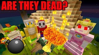 Minecraft Switch - Nintendo Fun House - BLOWING UP THE SECRET BASE! [DID THEY SURVIVE?] [128]