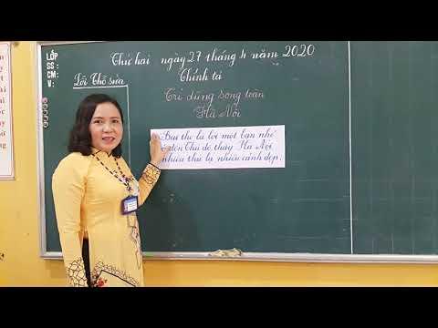 Môn Chính tả lớp 5, bài Trí dũng song toàn + Hà Nội (GV Phạm Thị Ánh Nguyệt, Trường TH C Phú Mỹ)
