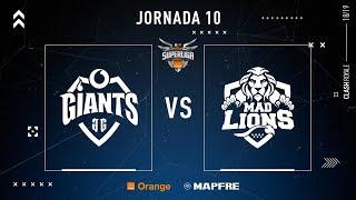 Vodafone Giants VS MAD Lions E.C.   Jornada 10   Temporada 2018-2019