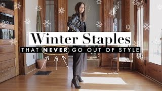 9 Winter Staples That FOREVER Will Be In Style - Investment-worthy