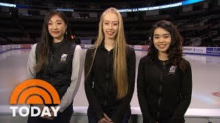 Meet The Ladies Of The US Olympic Figure Skating Team Heading To South Korea | TODAY - dooclip.me