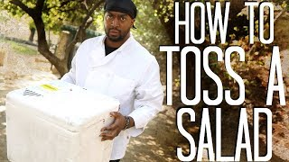 How to Toss A Salad with a Famous Chef