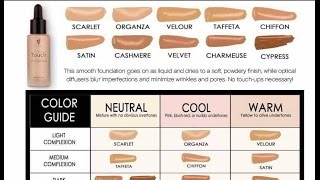 Younique Training Touch Foundation Color Matching Samye Populyarnye