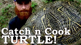 Catch and Cook WORLD'S MOST INVASIVE TURTLE! Ep08 | 100% WILD Food SURVIVAL Challenge!