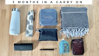 PACKING FOR 3 MONTHS IN A CARRY ON | minimalist travel backpacking SE Asia