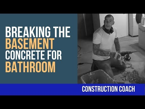 Breaking the Basement Concrete for Bathroom –  DIY Plumbing