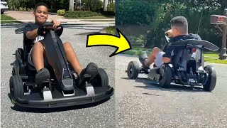 Kameiro goes Go-Kart CRAZY!!! #shorts | FamousTubeFamily