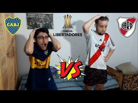 BOCA vs RIVER - FINAL DE COPA LIBERTADORES IDA - SUPERCLASICO  - REACCION DE AMIGOS