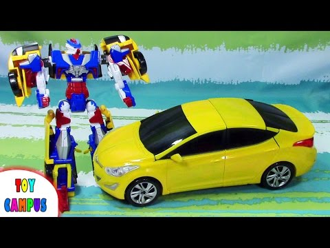 Hello Carbot Avante Pron Car To Robot | 헬로카봇 아반떼 프론 | ToysReview ToyCampus
