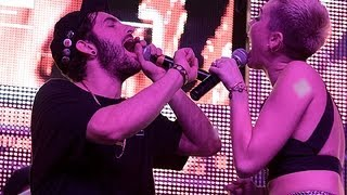 Borgore ft Miley Cyrus - Decisions (Live in L.A) 2012