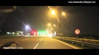 preview picture of video 'Airport Expressway by Night, Colombo, Sri Lanka - Jan 2015'