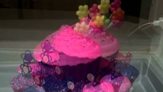 Babrbie Themed  Giant Cupcake  And Little Cupcakes