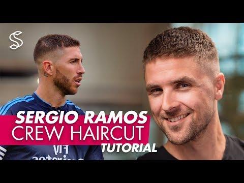 Sergio Ramos Haircut & Style   Crew Cut for Men Hair