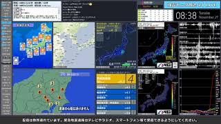 【茨城県南部】 2018年11月27日 08時33分(最大震度4)