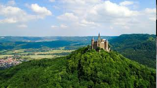 Hohenzollern castle germany aerial fpv drone flights