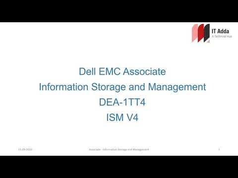 Dell EMC Associate Information Storage and Management | ISM V4 ...