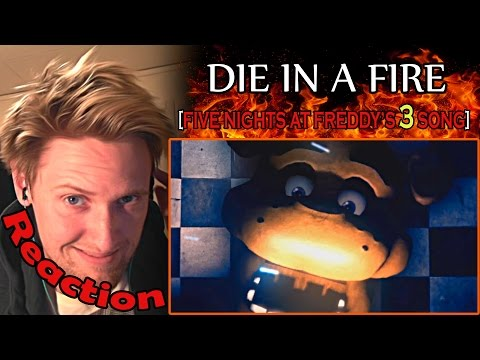 Five Nights at Freddy's 3 Song (Feat. EileMonty and Orko) - Die In A Fire REACTION! | DIE! | (видео)