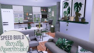 The Sims 4 Speed Build | BIG FAMILY SMALL APARTMENT + CC Links