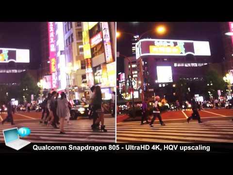 Qualcomm Snapdragon 805 Ultra HD 4K HQV Hollywood Quality Video upscaling