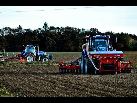 New Holland T7 BLUE POWER I KUHN I Semis de blé en 6m !