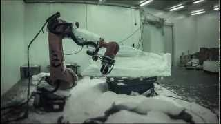 Ice Sculpting With Delcam PowerMILL Robot At DesignIce
