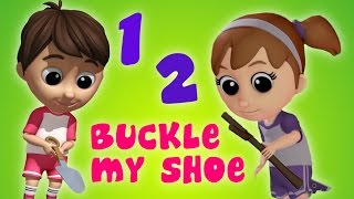 Luke & Lily - One Two Buckle My Shoe   Nursery Rhymes   Song  For Kids and Babies